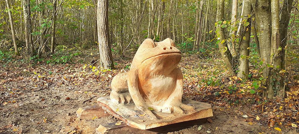 sculpture extérieur  en cèdre
